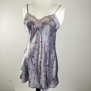 Victoria's Secret Grey Floral Nightie Size XS